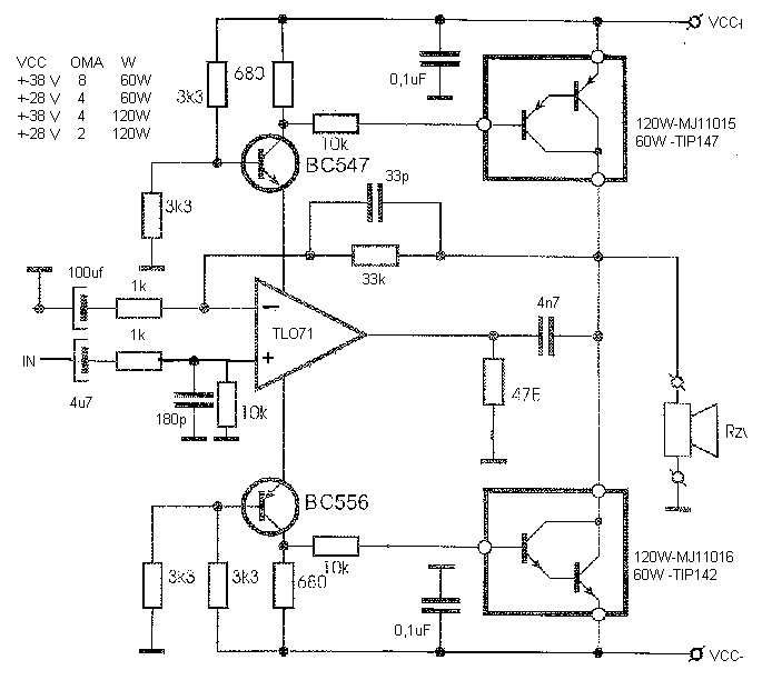 simple amplifier schematic diagram bridge subwoofer wiring