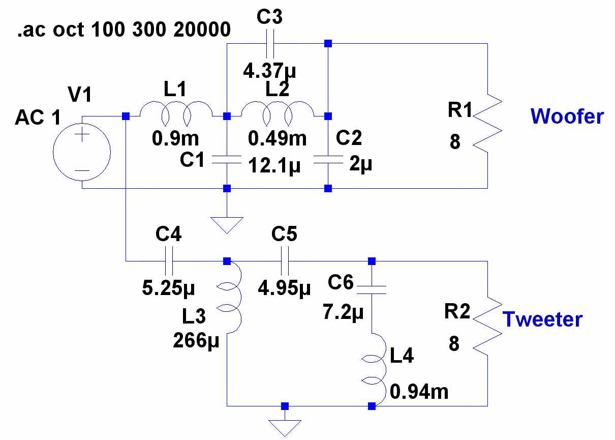 active crossover wiring diagram